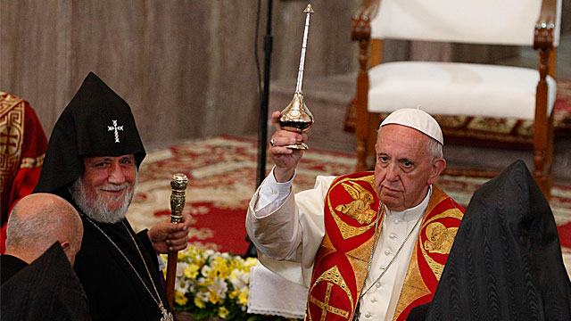 Pope in Armenia: Address during Ecumenical Prayer Vigil for Peace
