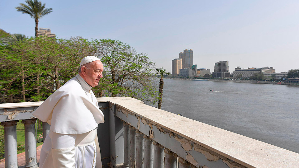 Pope Francis Visit the Nile River