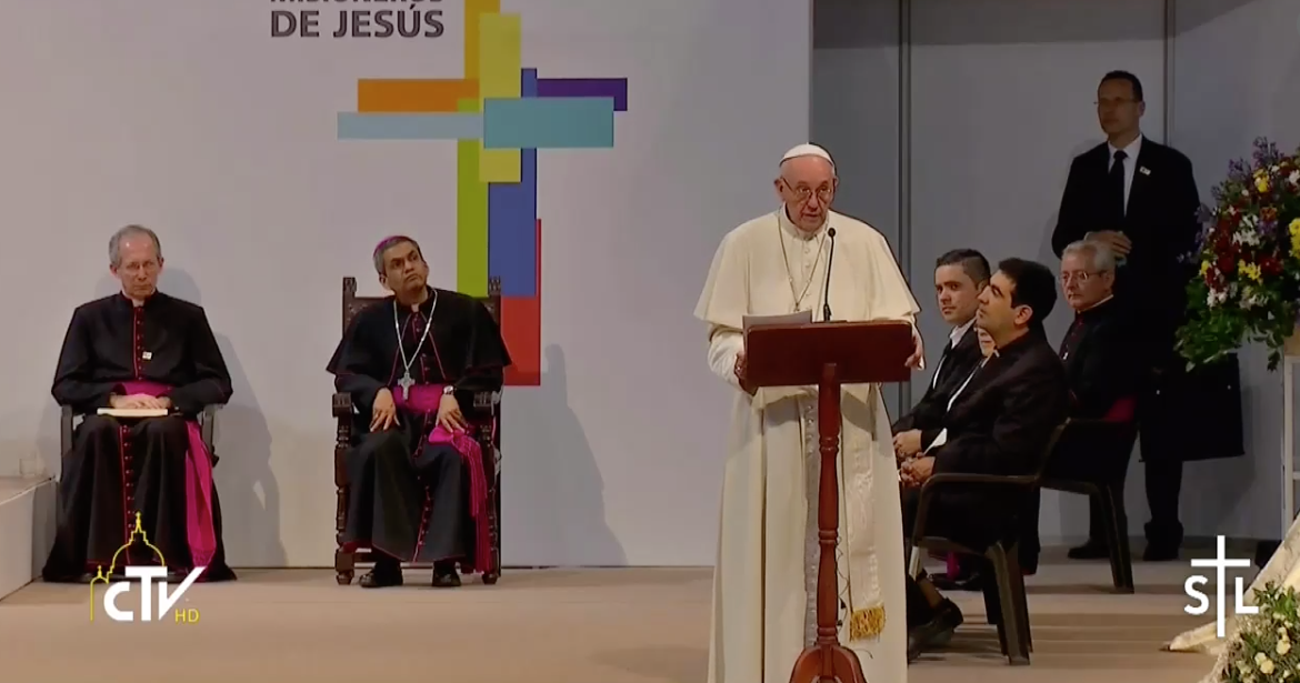 Pope in Colombia: Meeting with Religious, Priests, Consecrated People and Seminarians
