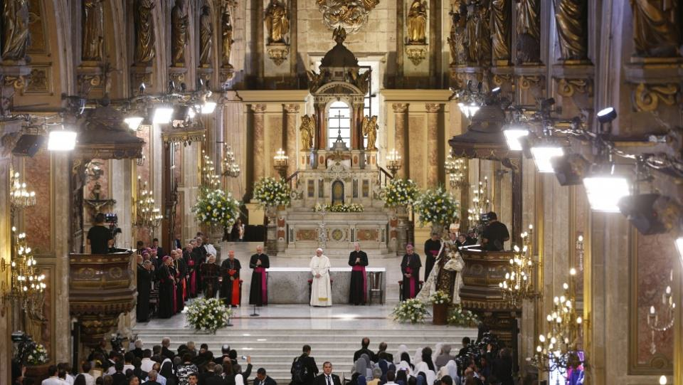 Pope Francis Speech at the Cathedral of Santiago