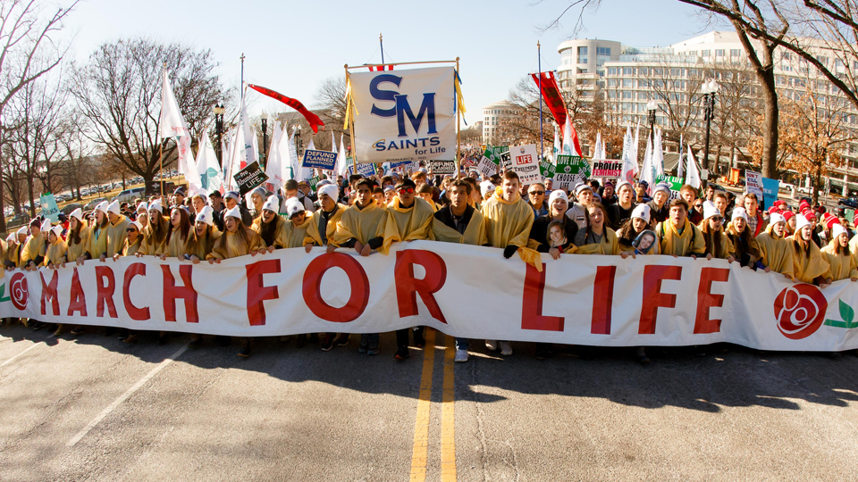 Marching for a clear, firm and passionate defense of <br> ALL human life