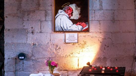 Shrine to Fr. Jacques Hamel