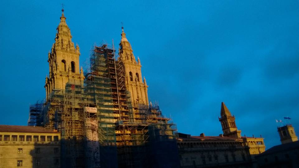 The cathedral at Santiago de Compostela in Spain is currently undergoing a 30-million euro restoration