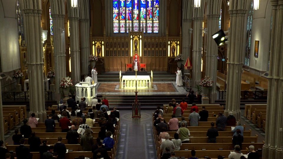 A liturgy taking place in the newly renovated St. Michael's Cathedral, Toronto