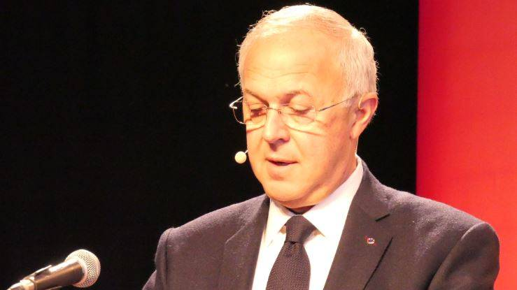 Carl Anderson, Supreme Knight of the Knights of Columbus, speaks at the World Meeting of Families