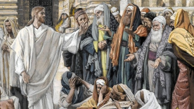 The Pharisees Question Jesus, by James Tissot