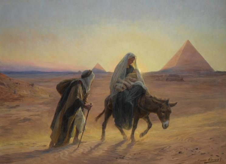 Flight into Egypt by Eugène Girardet (1850-1907)