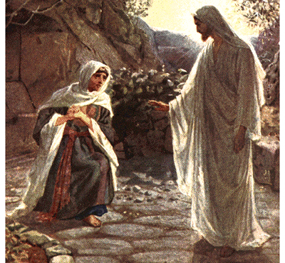 Mary Magdalene sees the risen Lord!