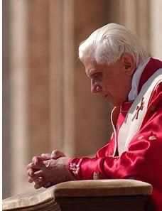 Pope Benedict on Palm Sunday 2006, from the Vatican website