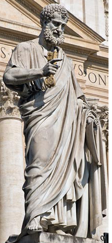 St. Peter holds the keys to the Kingdom in St. Peter's Square