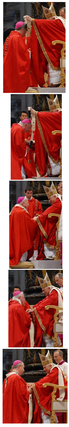 Archbishops Collins, O'Brien, Pettipas, Prendergast, and Smith receiving the pallium