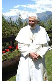 Pope Benedict on Vacation