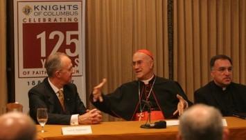 Supreme Knight Carl Anderson, Cardinal Bertone, Italian translator Fr. Thomas Rosica