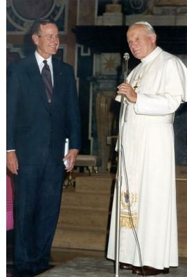 George Bush Sr. & JP II