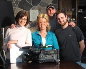 On Set with producer Gillian Kantor, host Rhea Joyner, Camerman Wally Tello, Camera Assistant David LeRoss