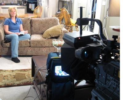 Mothering, Full of Grace host Rhea Johner on set