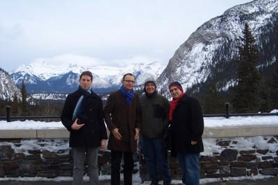 Team S+L in Banff: Benoit Leveque, Kris Dmytrenko, Chris Valka CSB and Richard Valenti