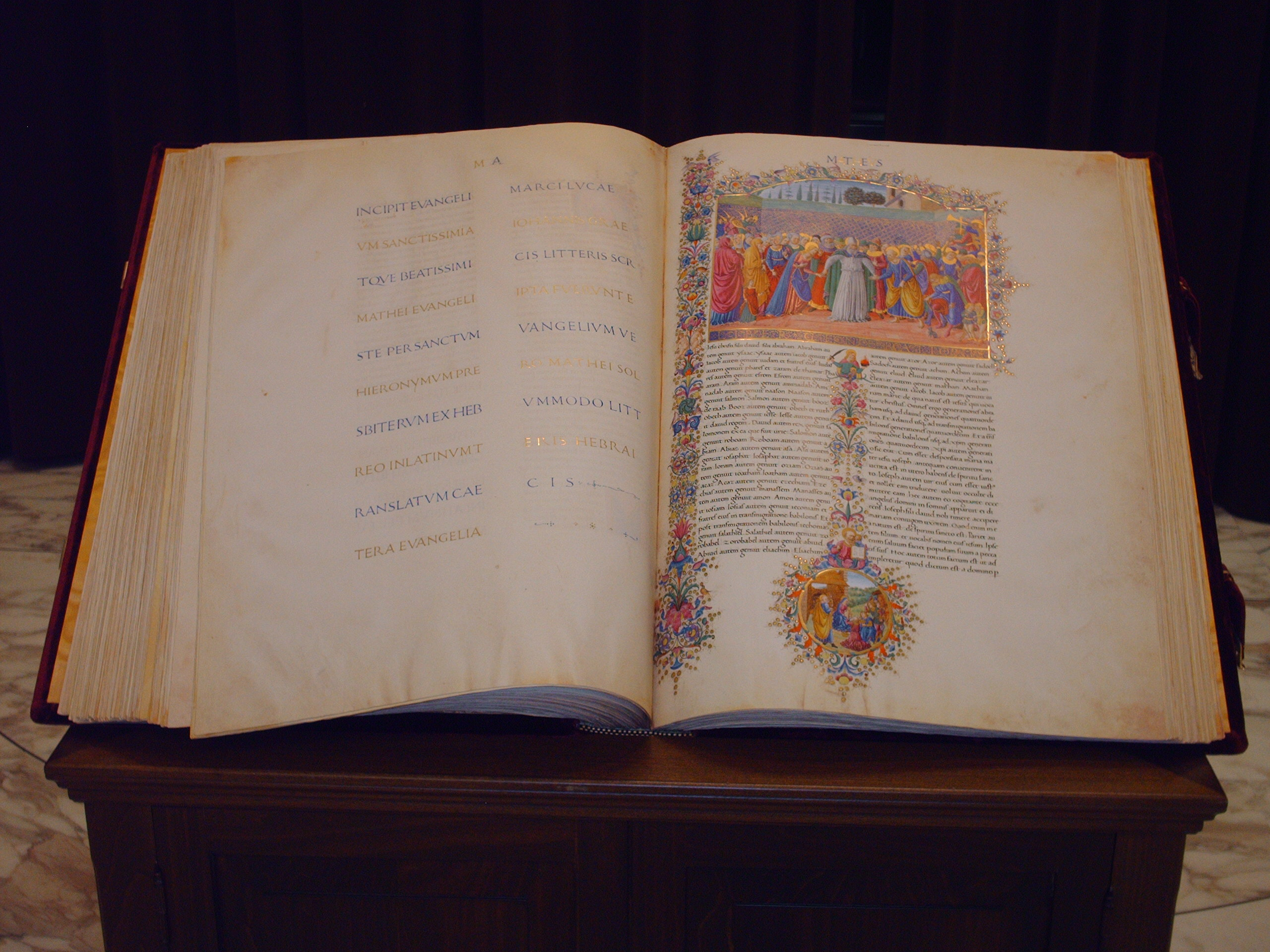 The Bible used during the Second Vatican Council, on display during the Synod.