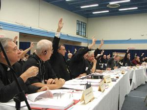 Canadian Bishops vote for Salt + Light (photo courtesy CCCB)
