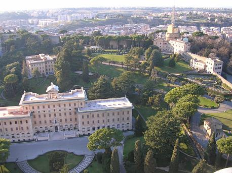 The Vatican Gardens, seen from atop St. Peter's Basilica