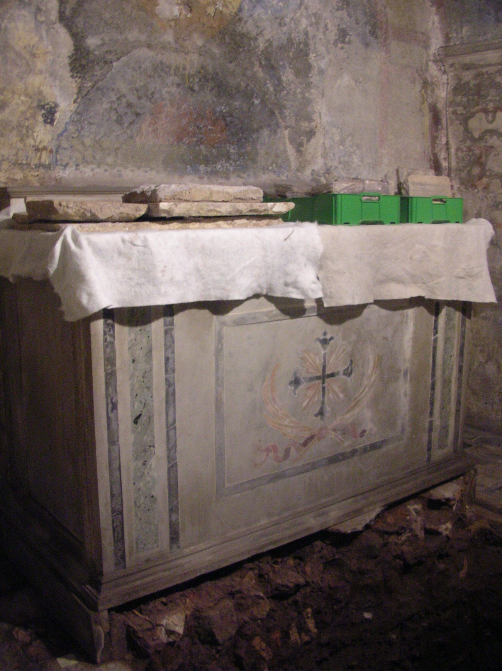 Altar marking the site of St. Agnes' death