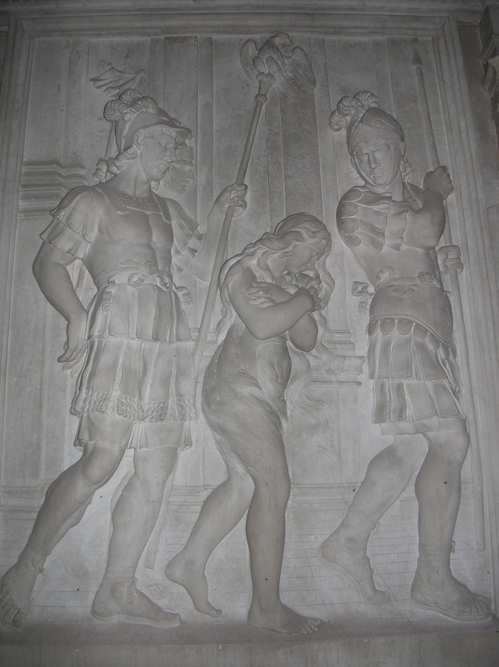 Relief depicting the martyrdom of St. Agnes
