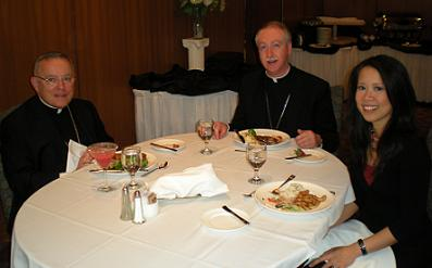 From left: Abp. Charles Chaput, Abp. Richard Smith, S+L's Mary Rose Bacani