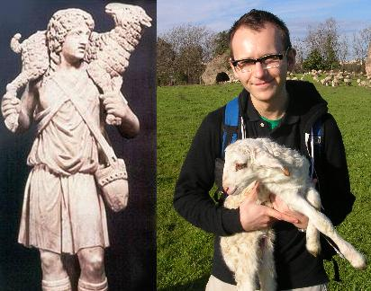 My best impression of the Good Shepherd statue