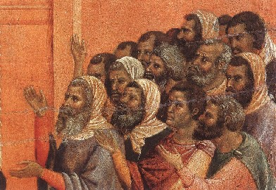 Christ Accused by the Pharisees (detail), Duccio di Buoninsegna, 1308-11