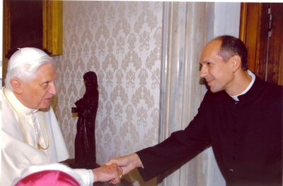 with Pope Benedict Oct 06