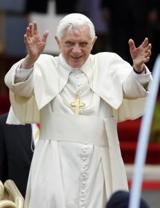 POPE BENEDICT'S ARRIVAL