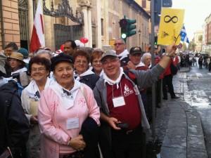 Montreal pilgrims in Rome (Photo: CORREA)