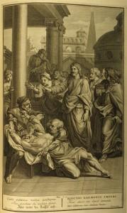 Jesus casts out a demon