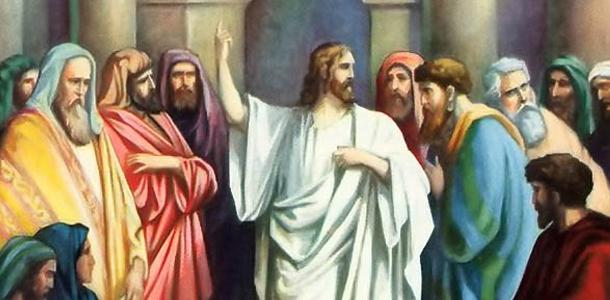 Jesus teaching with authority