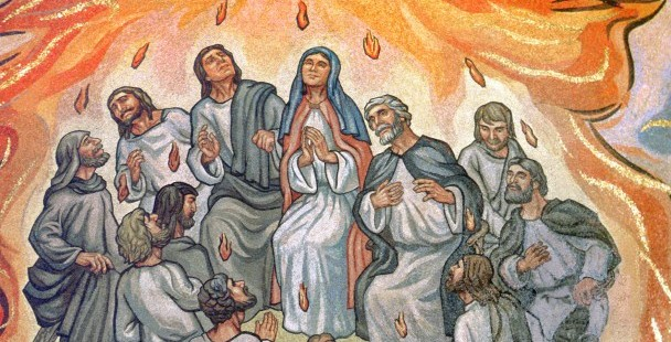 PENTECOST DEPICTED IN ARTWORK IN ST. LOUIS CATHEDRAL