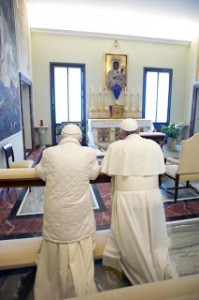 Popes Praying 1