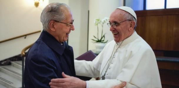pope with jesuit