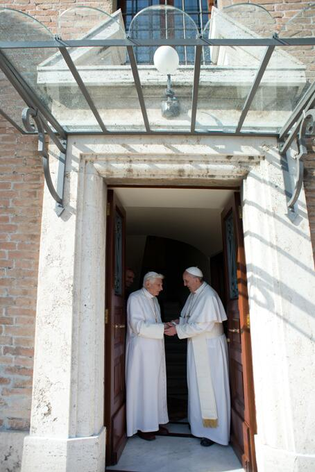 Two Popes at Home OR