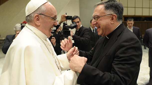 Pope Francis and Fr. Thomas Rosica
