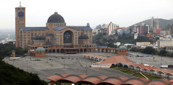 View of Basilica of the National Shrine of Our Lady of Aparecida in Brazil