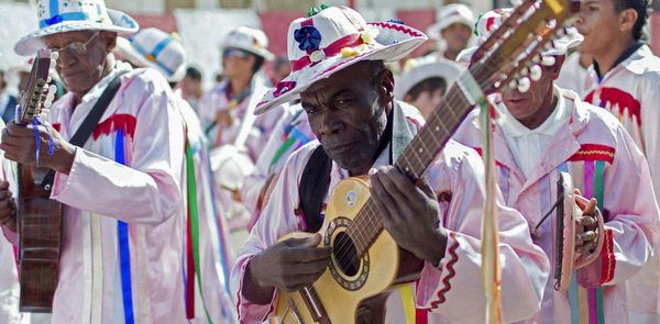 MUSICIANS TAKE PART IN PARADE DURING CATHOLIC FESTIVAL IN BRAZIL