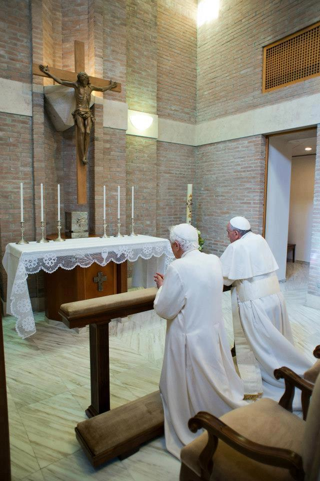 Two Popes in Prayer