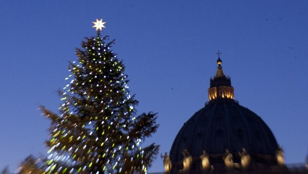 TREE DECORATES ST. PETER'S SQUARE ON CHRISTMAS EVE AT VATICAN