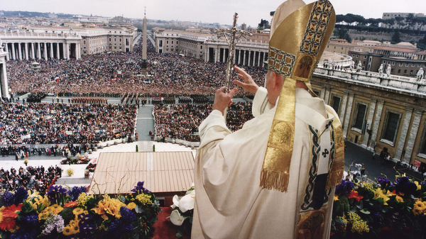 POPE DELIVERS EASTER MESSAGE IN 1993