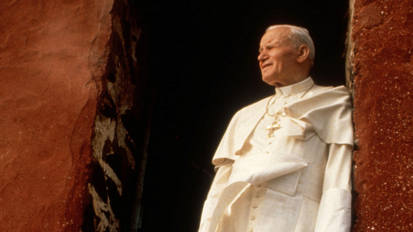 1992 photo of Blessed John Paul II on the threshold of former slave-trade depot in Senegal