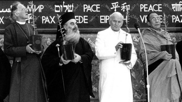 FILE PHOTO OF 1986 INTERFAITH PRAYER GATHERING IN ASSISI