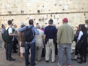 western wall praying together