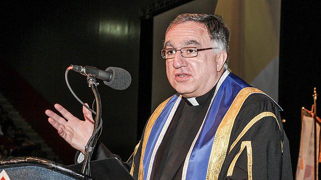 Fr. Rosica at the podium