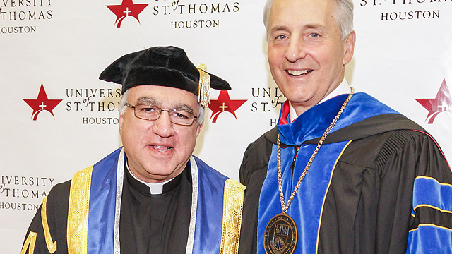 Fr. Rosica with Dr. Robert Ivany, President of the University of St. Thomas