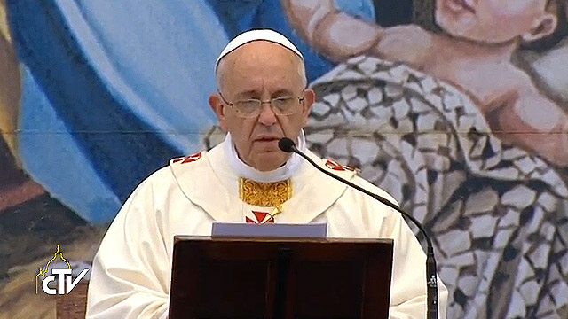 Pope Francis' homily in Manger Square
